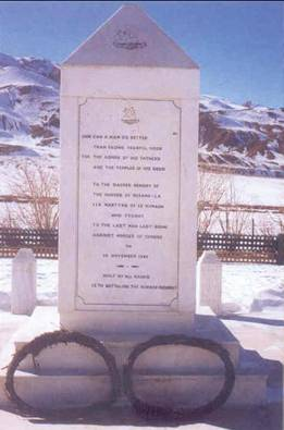 hero of rezang la Rezang la is a mountain pass on the south-eastern approach to chushul valley  in ladakh,  to the sacred memory of the heroes of rezang la, 114 martyrs of.